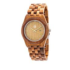 "Earth Wood Goods ""Baobab"" Olive Wood Bracelet Watch"