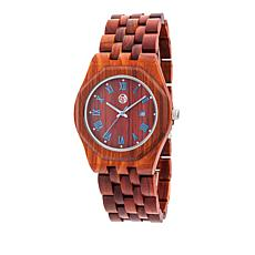 "Earth Wood Goods ""Baobab"" Red Wood Bracelet Watch"
