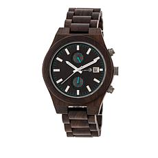 "Earth Wood Goods ""Castillo"" Dark Brown Wood Bracelet Watch"