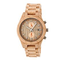 "Earth Wood Goods ""Castillo"" Khaki Wood Bracelet Watch"