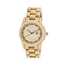"Earth Wood ""Heartwood"" Khaki Dial Wood Bracelet Watch"