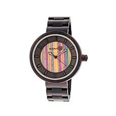 Earth Wood Root Skateboard Dial Dark Brown  Wood Watch