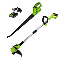 EARTHWISE 20-Volt Cordless Electric Blower and Trimmer