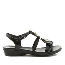 easy spirit Haven Patent Leather Flower Sandal