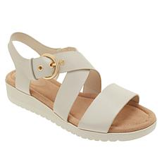 56654158a3a6 easy spirit Helix Leather Buckled Sandal
