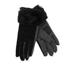 Echo Faux Fur Cuff Water-Repellant Touch Gloves