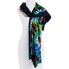 Echo Floral Silk Tublar Scarf