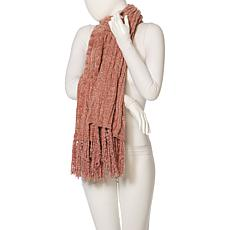 Echo Pleated Stripe Diamond Scarf