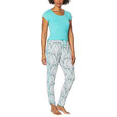 Echo Solid Tee with Printed Pant Sleepwear Set