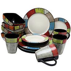 Elama Country Cottage 16-piece  Dinnerware Set