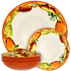 Elama Fruitful Bounty 5-piece Pasta Serving Bowl Set