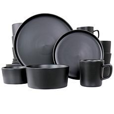 Elama Luxmatte Black 20-Piece Dinnerware Set