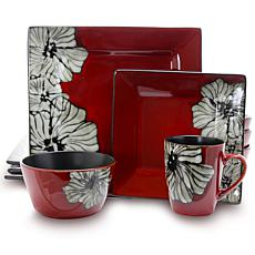 Elama Winter Bloom 16-Piece Dinnerware Set