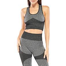 Electric Yoga Color Blocked Sports Bra - Grey