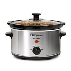Elite Gourmet 2-Quart Oval Slow Cooker