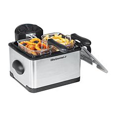 Elite Platinum 4-quart Dual Deep Fryer with 3 Baskets EDF-401T