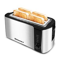 Elite Platinum Stainless Steel 4-Slice Long Slot Toaster