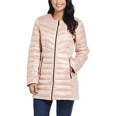 Ellen Tracy Packable Down Jacket with Hidden Hood Detail