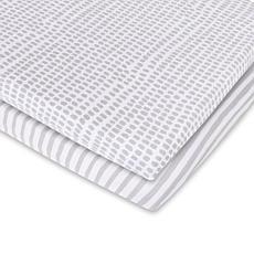 Ely's & Co. Waterproof Jersey Cotton Bassinet Sheet Set 2-pack