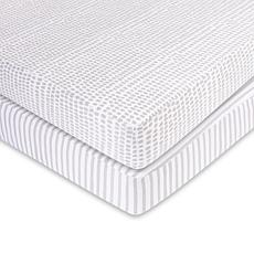 Ely's & Co. Waterproof Jersey Cotton Crib Sheet Set 2-pack