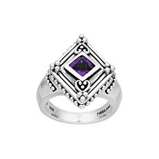 Elyse Ryan Sterling Silver Amethyst Ring