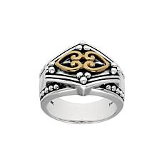 Elyse Ryan Sterling Silver and 14K Gold Ring