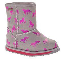 EMU Australia Rainbow Unicorn Brumby Kids Waterproof Boot