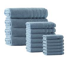 Enchante Home Veta 16-piece Turkish Cotton Bath Towel Set