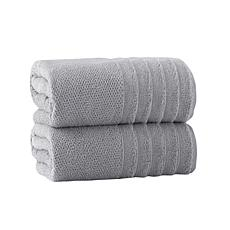 Enchante Home Veta Set of 2 Turkish Cotton Bath Sheets