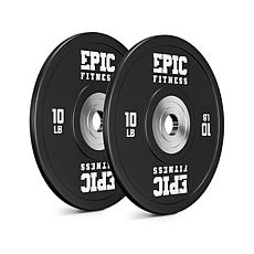 Epic Fitness Urethane Competition Barbell Plates 2-Pack - 10LB