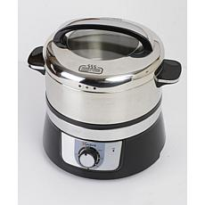 Euro Cuisine Electric Stainless Steel Food Steamer - Black