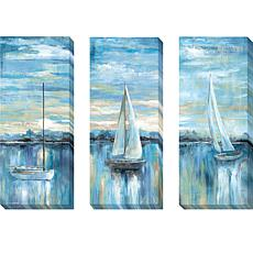 """Evening Bay"" Series by Nan Giclée Art - Set of 3"