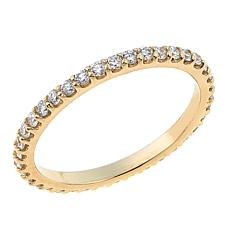 Ever Brilliant 0.48ctw Lab-Grown White Diamond 14K Eternity Band Ring