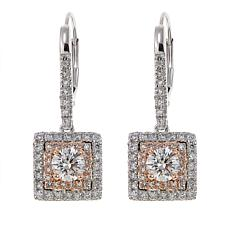 Ever Brilliant 1.25ctw Lab-Grown White Diamond Cushion Earrings