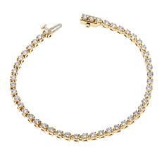 Ever Brilliant 4.08ctw Lab-Grown White Diamond Tennis Bracelet