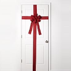 Evergreen Estates LED Ribbon Christmas Door Bow