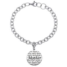 Everscribe Steel Bracelet with Personalized Charm