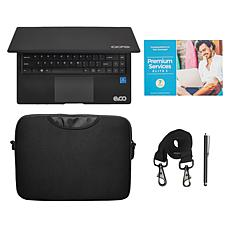 "EVOO 14.1"" Intel Celeron 4GB RAM 64GB Storage Laptop with Carrying Bag"