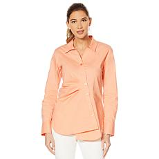 Evryday Elaine Asymmetric Oxford Blouse