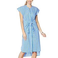 Evryday Jane Tie-Waist Shirt Dress