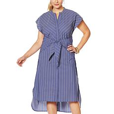 Evryday Jane Tie-Waist Striped Dress