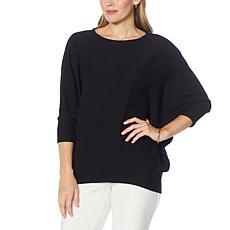 EZ by Nina Leonard Lounge Knit Dolman-Sleeve Tunic