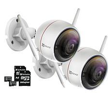 EZVIZ C3W (ezGuard) 2-pk 1080p HD Outdoor Wi-Fi Camera w/Memory Cards