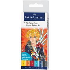 Faber-Castell Manga Pen Sets Manga Shonen - 6 Pieces