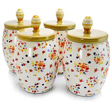 Farm Heart 4 Piece Set of 1.7 Qt Canisters