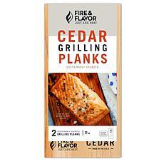 "Fire & Flavor FFPD192 11"" Cedar Grilling Plank 2-Pack"