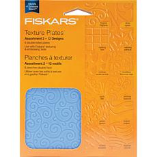 Fiskars Texture Plate Assortment II - 6/Pkg