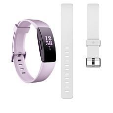 Fitbit Inspire HR Activity and Sleep Tracker with Small White Band