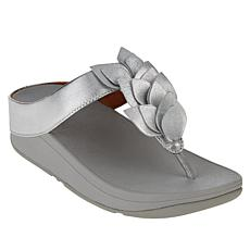 FitFlop Fino Leaf Leather Toe Post Sandal