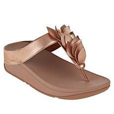 FitFlop Fino Leaf Leather Toe Post Sandal